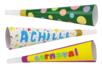 Trompettes blanches à décorer - Lot de 12 - Mardi gras, carnaval – 10doigts.fr