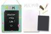 Kit GRAND Mémo en carton blanc - Ardoises – 10doigts.fr