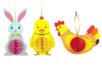 Suspensions de Pâques - Lapin, poussin et poule - Kits activités Pâques – 10doigts.fr