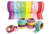 Tissus adhésifs assortis - 12 rouleaux - Adhésifs colorés et Masking tape - 10doigts.fr
