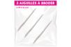 Aiguilles pour broderie - Lot de 3 - Aiguilles – 10doigts.fr