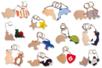 Porte-clefs animaux - Porte-clefs en bois - 10doigts.fr