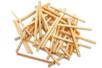 Allumettes en bois - Lot de 500 - Bâtonnets, tiges, languettes – 10doigts.fr