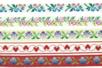 Rubans brodés en polyester - COEURS ET FLEURS - Rubans et ficelles - 10doigts.fr