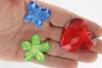 Méga strass fleurs, papillons et coeurs - 18 pièces - Strass – 10doigts.fr