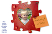 Cadre puzzle en bois médium - Cadres photos – 10doigts.fr