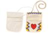 Pochette à bandoulières en coton naturel 3 poches - Coton, lin - 10doigts.fr