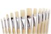 Pinceaux brosses plates en soie blanche - Brosses - 10doigts.fr
