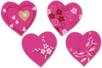 Coeurs fantaisie en bois décoré - Set de 8 - Motifs peint – 10doigts.fr