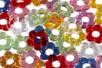 Perles fleurs en acrylique - Set de 70 - Perles acrylique - 10doigts.fr