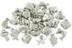 Perles charm's en plastique argenté - Perles métallisées – 10doigts.fr