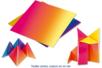 Papiers carré arc en ciel - 100 feuilles - Papiers Origami - 10doigts.fr