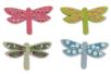 Libellules en bois décoré - Set de 8 - Motifs peints – 10doigts.fr
