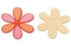 Fleur en bois naturel - Motifs bruts - 10doigts.fr