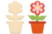 Pot de fleur en bois naturel - Motifs bruts – 10doigts.fr
