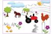 Mini-pochoirs La campagne - Set de 24 - Pochoirs Nature – 10doigts.fr