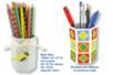 Pots à crayons hexagonaux en carton blanc - Pots, vases en carton – 10doigts.fr