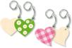 Porte-clés cœurs - Lot de 4 - Porte-clefs en bois - 10doigts.fr
