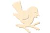 Oiseau en bois naturel - Motifs bruts - 10doigts.fr