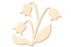 Fleur N°1 en bois naturel - Motifs brut – 10doigts.fr