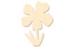 Fleur n° 3 en bois naturel - Motifs brut – 10doigts.fr