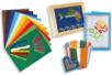 Kit Cartes à broder colorées et ses accessoires - Kits Mercerie - 10doigts.fr