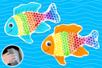 Peinture papier bulle : poisson arc-en-ciel - Peinture – 10doigts.fr