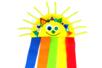 Soleil arc-en-ciel avec une assiette en carton - Activités enfantines – 10doigts.fr