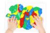 Activité Montessori Bébé Peinture Propre - Tête à Modeler
