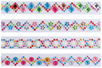 Strass sur bandes auto-adhésifs - 4 bandes de strass - Stickers strass, cabochons - 10doigts.fr