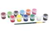Barrette de peinture acrylique + 1 pinceau - Acryliques scolaire – 10doigts.fr