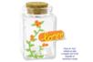 Bocal cubique en verre avec bouchon en liège - Décoration d'objets – 10doigts.fr