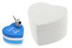 Boîte coeur en terre cuite blanche - Supports en Céramique et Terre Cuite - 10doigts.fr