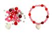 Bracelet rose à facettes - Kit pour 1 bracelet - Bijoux, bracelets, colliers – 10doigts.fr