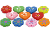 Bracelet de perles coeurs et fleurs en bois décoré - Bijoux – 10doigts.fr