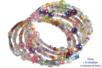 Bracelets en perles de rocaille, camaïeu pastels - Bijoux – 10doigts.fr