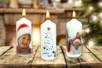 Transférer une photo sur une bougie - Noël – 10doigts.fr