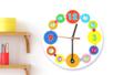 Horloge ronde à décorer avec gommettes et strass - Apprendre à lire, écrire, compter – 10doigts.fr