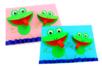 Grenouilles 3D en papier - Collage et pliage papier – 10doigts.fr