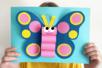 Papillon 3D en papier - Collage et pliage papier – 10doigts.fr