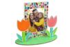 Cadre avec fleurs en bois à peindre - Activités enfantines – 10doigts.fr