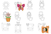Cadres photo à colorier - Supports pré-dessinés – 10doigts.fr