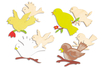 Cages à oiseaux mémo - pense-bête - Activités enfantines – 10doigts.fr