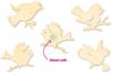Cages à oiseaux mémo - pense-bête - La Nature – 10doigts.fr