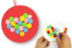 Cœurs à pomponner - Kit pour 6 réalisations - Coloriages – 10doigts.fr