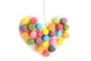 Coeur en flocons de maïs à supendre - 12 cartes - Flocons de maïs – 10doigts.fr