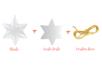Étoile 3 en 1 à suspendre - Plastique Transparent – 10doigts.fr