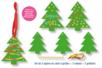 Cartes à gratter sapin de Noël + accessoires - 3 formes - Carte à gratter - 10doigts.fr