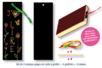 Set de 4 marque-pages en carte à gratter + 4 grattoirs + 4 rubans satin - Marques-page - 10doigts.fr