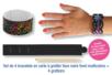 Set de 4 bracelets en carte à gratter + 4 grattoirs - Arc-en-ciel – 10doigts.fr